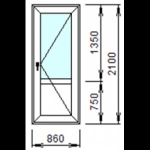 Входная пластиковая дверь 860х2100