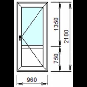 Входная пластиковая дверь 960х2100