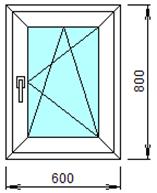 Готовое пластиковое окно № 104