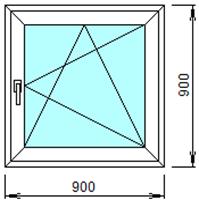 Готовое пластиковое окно № 105