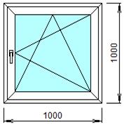 Готовое пластиковое окно № 106