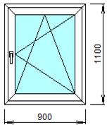 Готовое пластиковое окно № 107