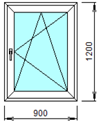 Готовое пластиковое окно № 108
