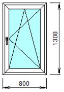 Готовое пластиковое окно № 109