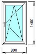 Готовое пластиковое окно № 110