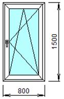 Готовое пластиковое окно № 111