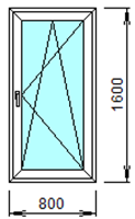 Готовое пластиковое окно № 112