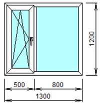 Готовое пластиковое окно № 201
