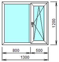 Готовое пластиковое окно № 202