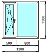 Готовое пластиковое окно № 203
