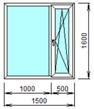 Готовое пластиковое окно № 210