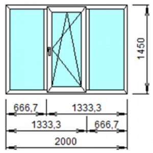 Оконный Блок 304 2000х1450