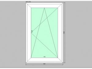 Одностворчатое окно ПВХ 800х1300