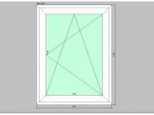 Одностворчатое окно ПВХ 900х1200