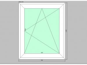 Одностворчатое окно ПВХ 900х1100