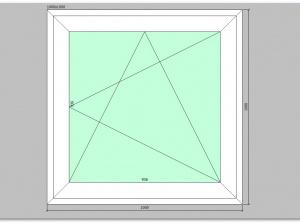 Одностворчатое окно ПВХ 1000х1000