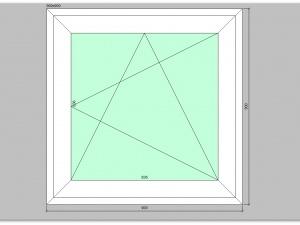 Одностворчатое окно ПВХ 900х900