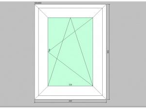 Одностворчатое окно ПВХ 600х800