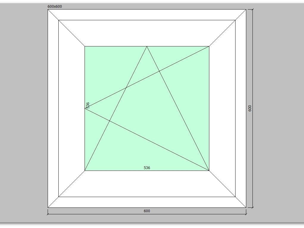 Пластиковое окно 600*600 мм одностворчатое