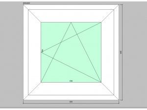 Одностворчатое окно ПВХ 600х600