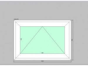 Фрамуга ПВХ для пластиковых окон 1000 х 700